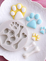 cheap -Bakeware tools Silicone Holiday / 3D Cartoon / Creative For Cake / For Chocolate / Cooking Utensils Round Cake Molds 1pc