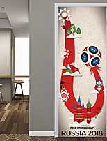 cheap -Decorative Wall Stickers Door Stickers - 3D Wall Stickers Football 3D Living Room Bedroom Bathroom Kitchen Dining Room Study Room / Office
