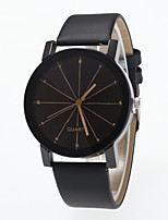 cheap -Men's / Women's Wrist Watch Chinese Large Dial Leather Band Minimalist / Fashion Black