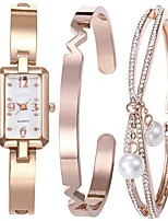 baratos -Mulheres Quartzo Bracele Relógio Japanês Cronógrafo Lega Banda Minimalista / Rígida Prata / Ouro Rose