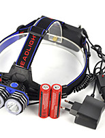 cheap -Headlamps LED 5000lm 1 Mode Professional / Wearproof / Lightweight Camping / Hiking / Caving / Everyday Use / Diving / Boating Blue