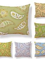 cheap -6 pcs Textile / Cotton / Linen Pillow case, Floral / Botanical / Floral Print Simple / Square Shaped
