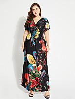 Недорогие -Жен. Классический Богемный Кафтан Платье - Однотонный Цветочный принт Макси