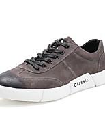 economico -Per uomo Scarpe Di pelle Primavera Comoda Sneakers Nero / Grigio / Rosso
