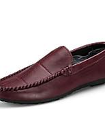 Недорогие -Муж. обувь Полиуретан Осень Мокасины Мокасины и Свитер Черный Коричневый Вино