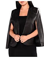 abordables -Veste de cuir Femme - Couleur Pleine Basique Paillettes