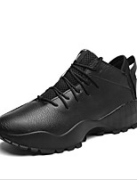 cheap -Men's Shoes PU(Polyurethane) Winter Comfort Sneakers White / Black