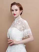 cheap -Sleeveless Lace Wedding / Party / Evening Women's Wrap With Tassel Capelets