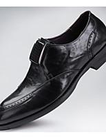 Недорогие -Муж. обувь Наппа Leather / Кожа Зима Удобная обувь Мокасины и Свитер Черный