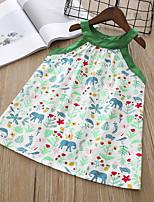 economico -Bambino / Bambino (1-4 anni) Da ragazza Fantasia geometrica Senza maniche Vestito