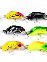 cheap -6pcs pcs Fishing Lures Hard Bait / Frog Plastic Outdoor Bait Casting / Lure Fishing / General Fishing