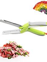 abordables -Outils de cuisine Acier inoxydable Multifonction Couteaux / Ciseaux Pour légumes / salade 1pc