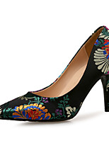 cheap -Women's Shoes Silk Spring & Summer Basic Pump Heels Stiletto Heel Black / Fuchsia / Wedding / Party & Evening / Party & Evening