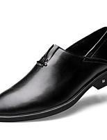Недорогие -Муж. обувь Наппа Leather / Кожа Весна Удобная обувь Мокасины и Свитер Черный