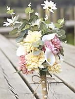 abordables -Fleurs artificielles 1 Une succursale Fleurs de mariage Chrysanthème Fleur de Table
