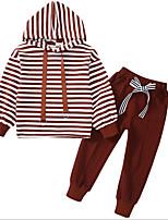 cheap -Kids Girls' Striped Long Sleeves Clothing Set