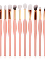 cheap -12pcs Makeup Brushes Professional Makeup Brush Set Nylon fiber Eco-friendly / Soft Wooden / Bamboo