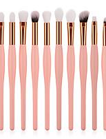 preiswerte -12 Stück Makeup Bürsten Professional Bürsten-Satz- Nylonfaser Umweltfreundlich / Weich Holz / Bambus