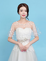 cheap -Sleeveless Lace Wedding / Birthday Women's Wrap With Star / Crystals / Rhinestones Capelets