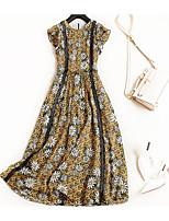 cheap -TS - Miss French Women's Simple / Street chic T Shirt Dress - Floral Ruffle