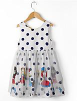 cheap -Kids Girls' Polka Dot Sleeveless Dress