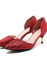 cheap -Women's Shoes PU(Polyurethane) Spring / Summer Comfort Heels Stiletto Heel Gold / Silver / Red