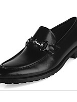 cheap -Men's Shoes Cowhide / Nappa Leather Spring Comfort Loafers & Slip-Ons Black / Dark Brown