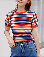 cheap -Women's Going out T-shirt - Striped