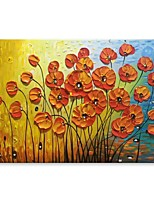 cheap -Oil Painting Hand Painted - Abstract Floral / Botanical Comtemporary Modern Canvas