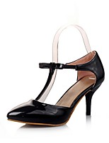 cheap -Women's Shoes Leatherette Spring & Summer D'Orsay & Two-Piece Heels Stiletto Heel Pointed Toe Bowknot Black / Purple / Pink