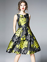 cheap -SHIHUATANG Women's Vintage Street chic A Line Dress - Floral Print