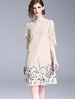 cheap -SHIHUATANG Women's Vintage Shift Dress - Floral Lace