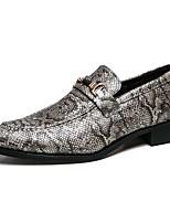 preiswerte -Herrn Schuhe PU Leder Sommer formale Schuhe Komfort Loafers & Slip-Ons für Party & Festivität Schwarz Khaki