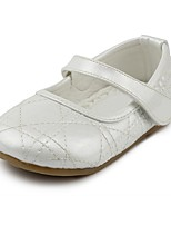 cheap -Girls' Shoes Leatherette Spring & Fall Comfort / Flower Girl Shoes Flats Hook & Loop for Kids White / Black