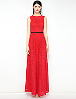 cheap -MARY YAN&YU Women's Vintage Sophisticated Swing Dress - Solid Colored Lace Backless
