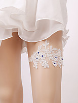 cheap -Lace Classic Jewelry / Lace Wedding Garter 617 Rhinestone / Floral / Gore Garters Wedding / Party & Evening