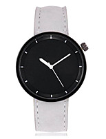 cheap -Men's / Women's Wrist Watch Chinese Large Dial Leather Band Colorful / Bangle Black / White / Red