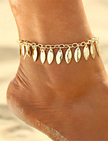 cheap -Anklet - Leaf Vintage, Bohemian, Fashion Gold For Gift / Bikini