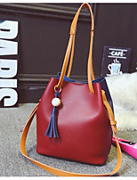 cheap -Women's Bags PU Shoulder Bag Tassel White / Wine