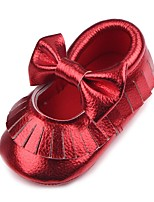 cheap -Girls' Shoes Leatherette Fall Comfort / First Walkers / Crib Shoes Flats Tassel for Baby Gold / White / Red / Wedding