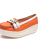 cheap -Women's Shoes Cowhide Summer Comfort Heels Wedge Heel Orange / Light Yellow / Blue