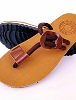 cheap -Men's Shoes EVA Summer Toe Ring Slippers & Flip-Flops for Casual Black Brown