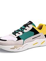 cheap -Men's Shoes Suede Summer Comfort / Light Soles Sneakers Black / Gray