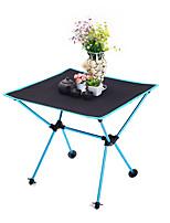 abordables -Table de Camping Extérieur Léger, Portable, Pliage Tissu Oxford, Aluminium pour Randonnée / Plage / Camping Noir / Orange