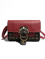 cheap -Women's Bags PU Leather Shoulder Bag Beading Red / Purple / Brown