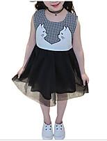 cheap -Kids Girls' Check Sleeveless Dress