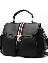 cheap -Women's Bags PU Tote Zipper Black