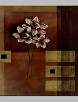 cheap -Oil Painting Hand Painted - Abstract / Floral / Botanical Traditional Canvas