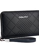 cheap -Men's Bags PU Clutch Zipper for Outdoor Black / Dark Blue / Dark Brown