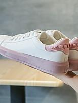 Недорогие -Жен. Обувь Искусственное волокно Весна Удобная обувь Кеды На плоской подошве Черный / Синий / Розовый